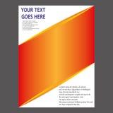 Jahresbericht-Broschüren-Broschüren-Fliegerschablonendesign Stockfoto