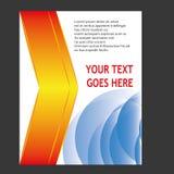 Jahresbericht-Broschüren-Broschüren-Fliegerschablonendesign Stockfotografie