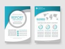 Jahresbericht, Flieger, Broschüre Vektor Abbildung