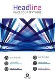 Jahresberichtabdeckungsdesign A4 Vektor Stockbild