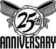 25. Jahrestag vektor abbildung