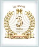 3. Jahrestag Lizenzfreie Stockfotos