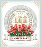 Jahrestag 100 lizenzfreie abbildung