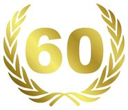 Jahrestag 60 Stockbild