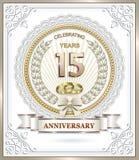 15. Jahrestag Lizenzfreie Stockfotos