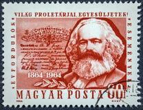100. Jahrestag der Ersten Internationale, Frage zeigt Karl Marx Stockbild