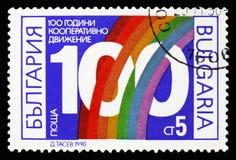 100. Jahrestag der Genossenschaftsbewegung, Jahrestag serie stockbild