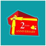 Jahrestag der Jahre Web2 Jahrestagsschablonenentwurf für Netz, Spiel, kreatives Plakat, Broschüre, Broschüre, Flieger, Zeitschrif vektor abbildung