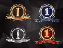 1. 20. Jahrestag, der klassisches Logodesign prem feiert vektor abbildung