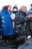 Jahrestag der Revolution von Würde in Ukraine Stockbilder