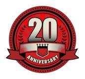Jahrestag des Aufklebers 20 lizenzfreie abbildung