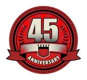Jahrestag des Aufklebers 45 lizenzfreie abbildung