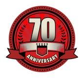 Jahrestag des Aufklebers 70 stock abbildung