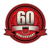 Jahrestag des Aufklebers 60 vektor abbildung
