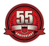 Jahrestag des Aufklebers 55 stock abbildung