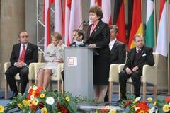 20. Jahrestag des Einsturzes des Kommunismus in Mitteleuropa Stockbilder