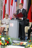 20. Jahrestag des Einsturzes des Kommunismus in Mitteleuropa Stockfotografie