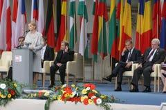 20. Jahrestag des Einsturzes des Kommunismus in Mitteleuropa Stockfotos
