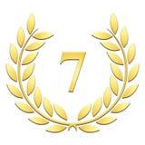 7. Jahrestag des Lorbeerkranzes auf einem weißen Hintergrund stock abbildung