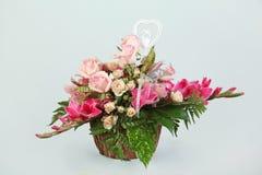 25. Jahrestag des natürlichen Blumengestecks Stockfotografie