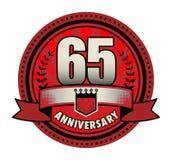 Jahrestag des Stempels 65 lizenzfreie abbildung
