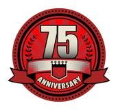 Jahrestag des Stempels 75 stock abbildung
