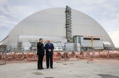 Jahrestag des Unfalles auf Atomkraftwerk Chornobyl Stockbilder