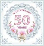 Jahrestag 50 Jahre lizenzfreie abbildung