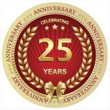 Jahrestag 25 Jahre, Geburtstag, Hintergrund, Feier, Grußkarte Auch im corel abgehobenen Betrag lizenzfreie abbildung