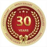 Jahrestag 30 Jahre, Geburtstag, Hintergrund, Feier, Grußkarte Auch im corel abgehobenen Betrag stock abbildung