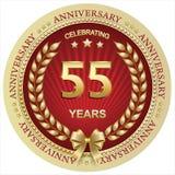 Jahrestag 55 Jahre, Geburtstag, Hintergrund, Feier, Grußkarte Auch im corel abgehobenen Betrag stock abbildung