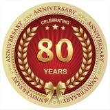 Jahrestag 80 Jahre, Geburtstag, Hintergrund, Feier, Grußkarte Auch im corel abgehobenen Betrag stock abbildung