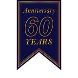 Jahrestag, 60 Jahre mehrfarbige Ikone Kann für Netz, Logo, mobiler App, UI, UX verwendet werden stock abbildung