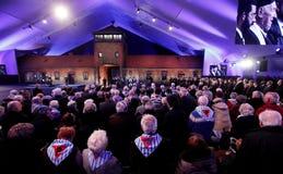 70. Jahrestag von Auschwitz-Befreiung Stockfotografie