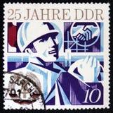 Jahrestag 25 von DDR-Grundlage, circa 1974 Stockfotos