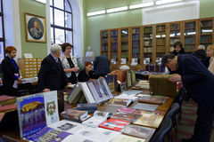 140. Jahrestag von St- Petersburgkunst und von Industrie-Akademie Stockbild