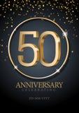 Jahrestag 50 Zahlen des Gold 3d vektor abbildung