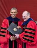 250. Jahrestags-Abschlussfeier Barack Obama Attendss an Rutgers-Universität Stockbild