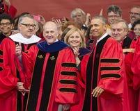 250. Jahrestags-Abschlussfeier Barack Obama Attendss an Rutgers-Universität Stockbilder