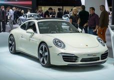 Jahrestags-Ausgabe Porsches 911 Carrera 50. Stockfoto