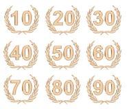 Jahrestags-Bronze stockbilder