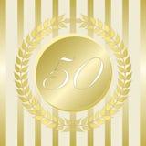 Jahrestags-Dichtung fünfzig Jahre Lizenzfreie Stockfotografie