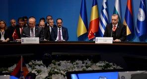 25. Jahrestags-Gipfel der wirtschaftlichen Zusammenarbeit BSEC Schwarzen Meers Lizenzfreies Stockfoto