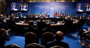 25. Jahrestags-Gipfel der wirtschaftlichen Zusammenarbeit BSEC Schwarzen Meers Lizenzfreie Stockfotos