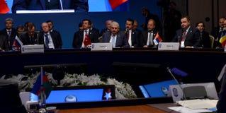 25. Jahrestags-Gipfel der wirtschaftlichen Zusammenarbeit BSEC Schwarzen Meers Stockfotos