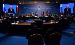 25. Jahrestags-Gipfel der wirtschaftlichen Zusammenarbeit BSEC Schwarzen Meers Stockfotografie