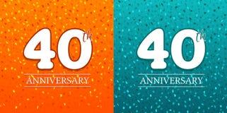 40. Jahrestags-Hintergrund - 40 Jahre Feier Geburtstag Eps10 vektor abbildung