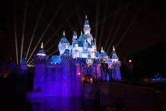 Jahrestags-Schloss Disneylands 60. Stockbild