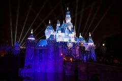Jahrestags-Schloss Disneylands 60. Lizenzfreies Stockbild