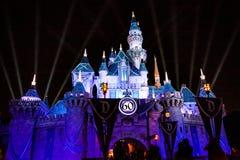 Jahrestags-Schloss Disneylands 60. Stockbilder
